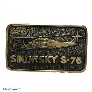 Sikorsky S-76 First Production Helicopter Buckle